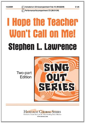 Download I Hope the Teacher Won't Call on Me! PDF