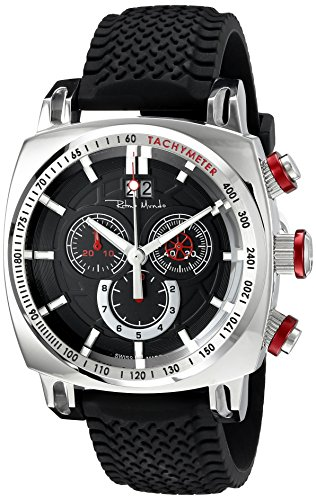 Ritmo Mundo Men's 2221/3 SS Red Racer Analog Display Swiss Quartz Black Watch