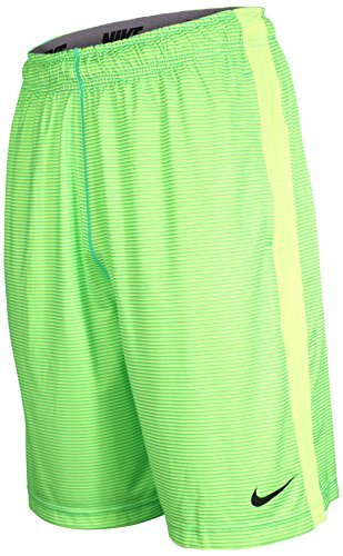 Nike Men's Dri-Fit Fly Shadow Stripe Training Shorts-Volt/Lime-2XL