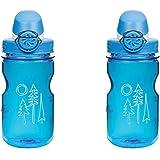 Nalgene OTF Kids -12 oz Bottle 2 Pack 3 Inches in Diameter By 7.5 Inches Tall.