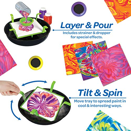 Crayola Washable Paint Pour Set, 20pc Paint Set, Gift for Kids, 8, 9, 10, 11