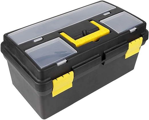 Zerone- Caja de Herramientas con Cierre de Seguridad, Caja de Almacenamiento de Herramientas de plástico con asa, Caja de Herramientas portátil con Compartimentos para casa y Taller: Amazon.es: Hogar