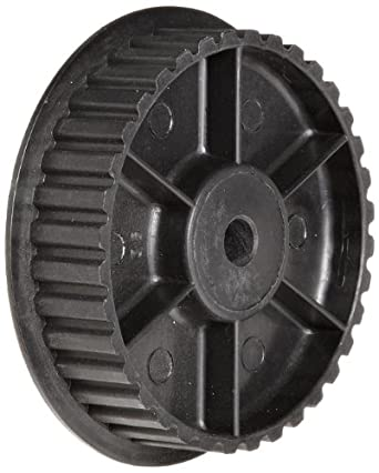 "Timing Belt Pulley, 0.200"" Pitch, 30 Grooves, 0.250"" Bore Diameter, 1.890"" Outside Diameter, Glass Filled Nylon, Single Flange"