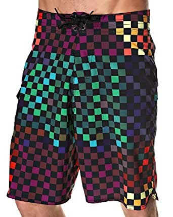 Vans Men's 'Era Stretch' Boardshorts W32 Multi-Colored