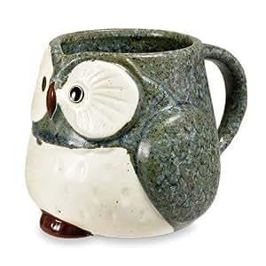 Owl Ceramic Mug (Blue)