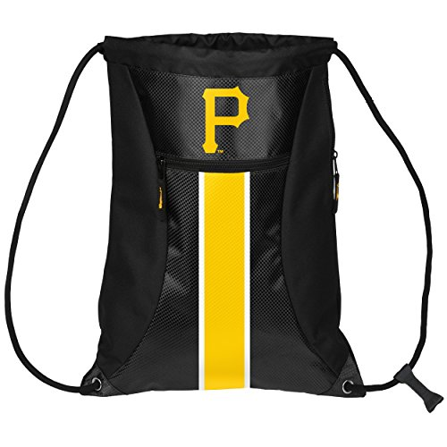 FOCO Pittsburgh Pirates Big Stripe Zipper Drawstring Backpack