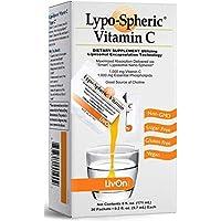 Lypo–Spheric Vitamin C – 1,000 mg Vitamin C & 1,000 mg Essential Phospholipids Per Packet – Liposome Encapsulated for…