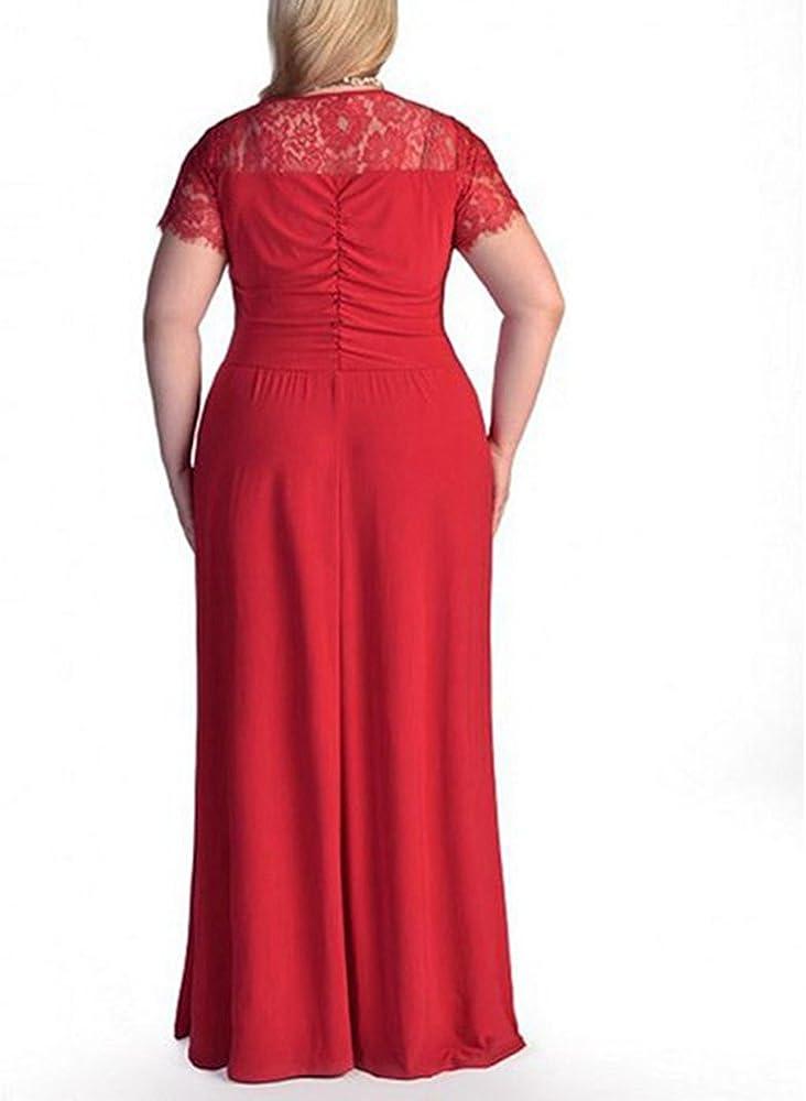 HUHHRRY Mujer Vestido Largo Talla Grande Top Ropa Dama Falda con ...