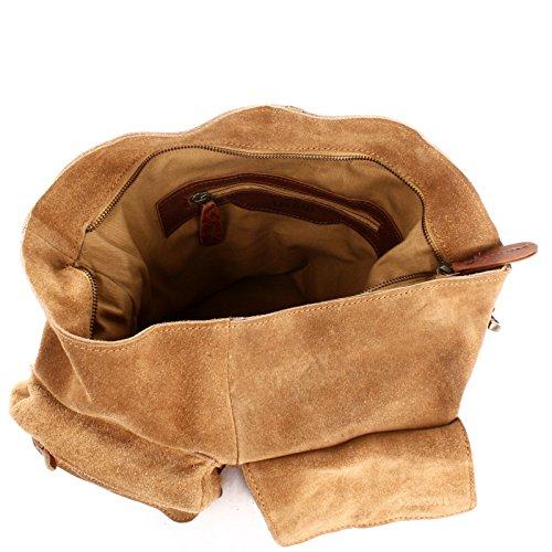 Cuir à véritable cuir Sac à Leconi véritable cuir à femme bandoulière cuir suède cuir Sac A4 cuir Sac Sac main en A4 en marron LE0039 V cognac en en main en main à Sac 41x32x10cm sauvage pour Wz8AW