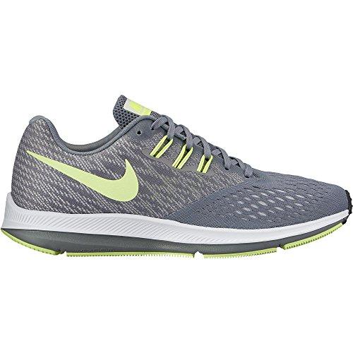 Nike Donna Zoom Winflo 4 Scarpa Da Corsa Grigio / Volt-m