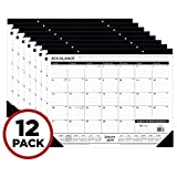 "AT-A-GLANCE 2019 Desk Calendar, Desk Pad, 21-3/4"" x 17"", Standard, 2 Hole Punched, Ruled Blocks, 12 Pack (SK2400-12)"