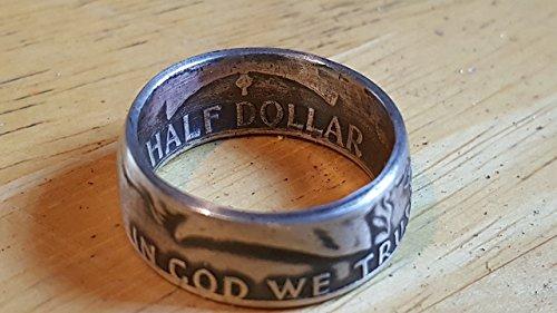 FRANKLIN HALF DOLLAR COIN RING -.90 SILVER