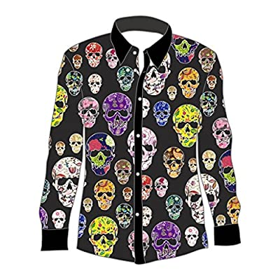 YOU LOOK UGLY TODAY Men's Halloween Stylish Funny Dress-up Party Shirt Blouse