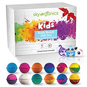 Organic Baby Bath Bombs with toys Set for kids 3-5 year olds