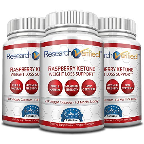 Research Verified Raspberry Ketones -100% Pure Natural Raspberry Ketones -1000mg/day for Fast and Easy Weight Loss - 365 Day 100% Money Back Guarantee - 180 Capsules (Three Month Supply) by Research Verified (Image #8)