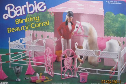 Barbie BLINKING BEAUTY CORRAL Playset