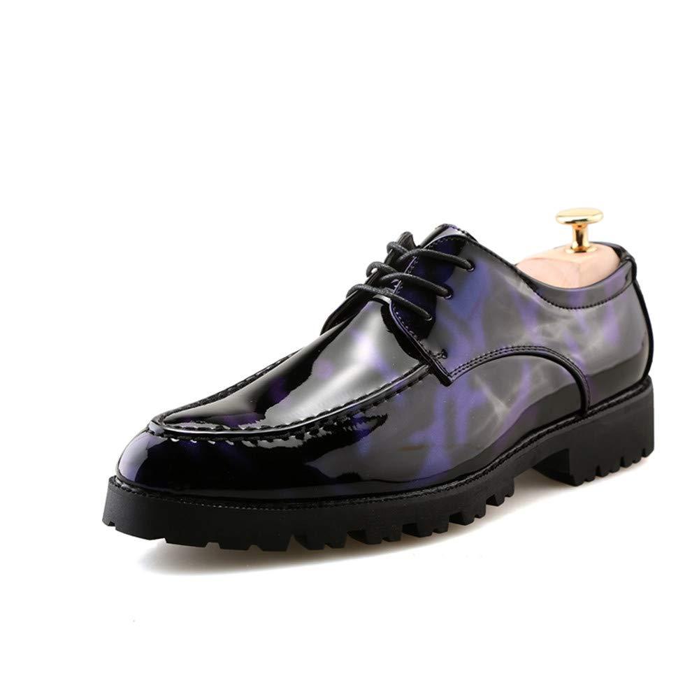 Zapatos Oxford de Moda Antideslizantes Gruesos de Oxford de la Moda de los Hombres Formales 42 EU|Azul