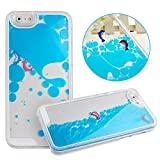 iPhone 6 Case, iPhone 6S Case, Aprtwin® Fashion Style Case, Creative 3D Flow Liquid with Swimming Dolphins Hard Plastic Back Case Cover Fit for iPhone 6/6S (4.7Inch)[Blue]