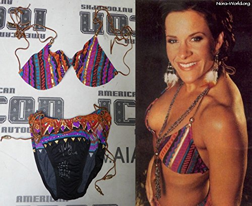 Molly Holly 2x Signed WWE Diva Ring Worn Bikini COA Photo Shoot & Card - PSA/DNA Certified - Autographed Wrestling Miscellaneous Items