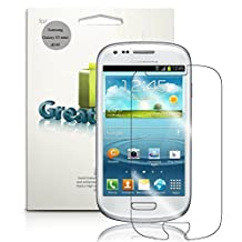 GreatShield® Samsung Galaxy S3 mini [MERE Mark II] Ultra Smooth Crystal Clear Screen Protector Film for Samsung Galaxy S3 S III mini / GT-I8190 (3 Pack) - Lifetime Warranty
