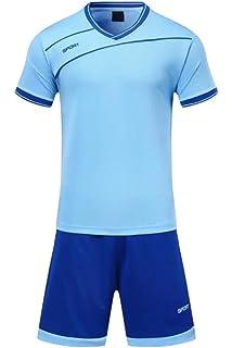 56efd14c16c81 KINDOYO Niño Hombres Ropa Deportiva Camiseta y Pantalones Cortos Conjunto  de Entrenamiento de Equipo de…