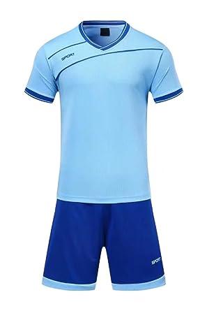 neueste auswahl Großbritannien mehr Fotos XFentech Herren Kinder Sommer Sportbekleidung Fußball Kleidung Oberteile  und Shorts Set Training Wettbewerb Sport Kostüm Alle Größen