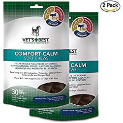 Vet's Best Comfort Calm Calming Soft Chews Dog Supplements, 30 Day Supply (2-Pack)
