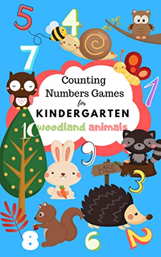 Counting Numbers Games For Kindergarten: Math Learning Book for Kids Ages 2-5   Fun Counting Games 1-10 with Woodland Animals (I Spy Book Preschooler