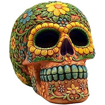 amazon com orange day of the dead sugar skull coin bank mexican dia