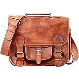 LE CARTABLE (S) cuir couleur naturel sac bandoulière style Vintage PAUL MARIUS