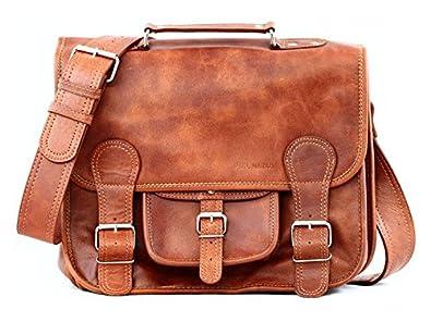 6b5e91da2c56e LE CARTABLE (S) cuir couleur naturel sac bandoulière style Vintage PAUL  MARIUS