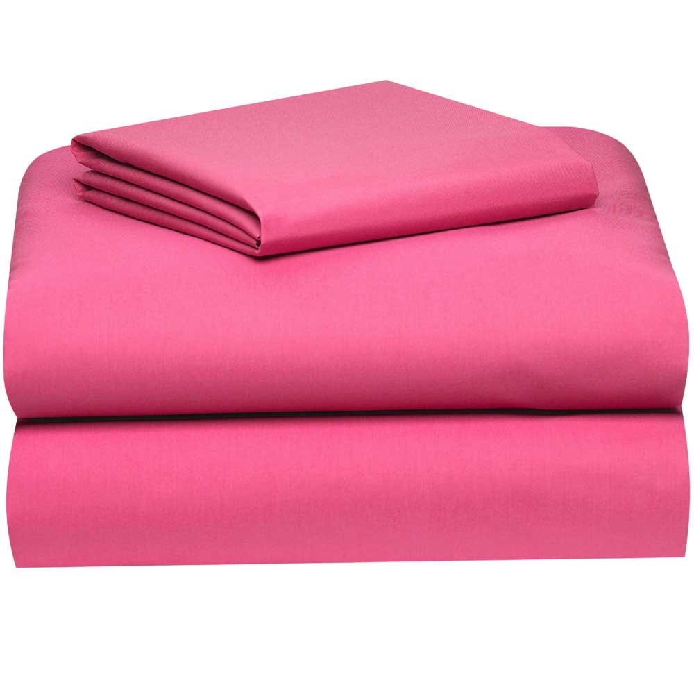 Amazoncom Deep Pink College Classic ExtraLong 3Piece Sheet Set