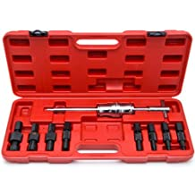 SUPERCRAZY 9PCS Blind Hole Slide Hammer Pilot Bearing Internal External Removal Puller Tool Kit SC0010