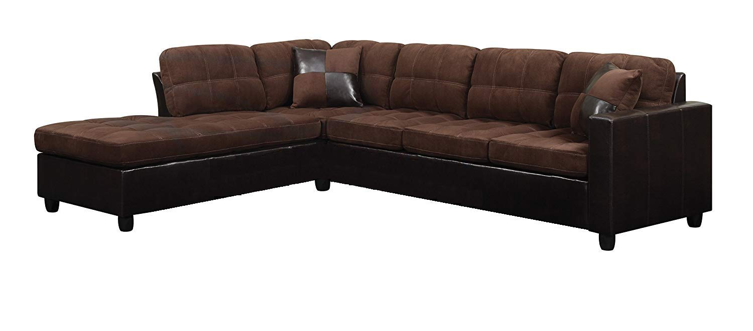 Coaster Home Furnishings Mallory Reversible Sectional Chocolate 505655