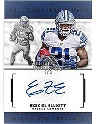 Ezekiel Elliott 2016 Panini National Treasures Collegiate Auto Black 1/3 - Panini Certified - Football Autographed Rookie Cards
