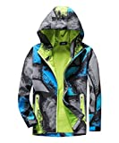 M2C Boys Hooded Color Block Waterproof Jacket with Composite Mesh