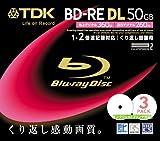 TDK BD-RE DL 50GB 2x Rewritable in Jewel Cases (3 discs) [Japanese Import]