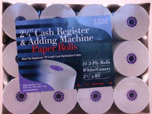 "IBM 2 1/4"" Register Tape - 24 2-ply rolls"
