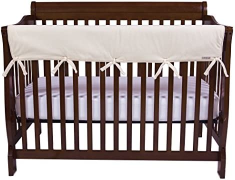 Trend Lab Waterproof CribWrap Rail Cover for Wide Long Crib Rails Made to Fit Rails up to 18 Around