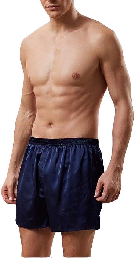 Lutratocro Men Casual Shorts Silk No Trace Breathable Loose Boxers