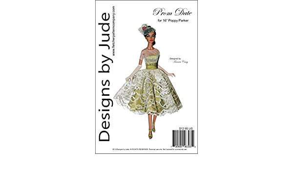 """Prom Date Doll Clothes Sewing Pattern for 16/"""" Poppy Parker dolls Integrity"""
