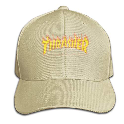 Fhsdiu.fjhiu Thrasher Visor Hat Vintage Sandwich Cap Caps Natural