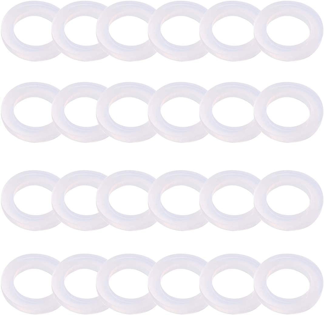 "SDTC Tech 24-Pack Leak Preventing Silicone Gaskets Shower Hose Washers for Standard 1/2 Inch Garden Hose Fittings (3/4"" x 3/8"" / OD x ID)"