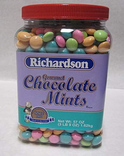 Covered Mint Chocolate - Richardson Gourmet Chocolate Mints 57 Oz Jar