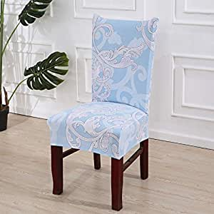 Amazon.com: SHANYT Chair Cover 1/2/4/6 Pieces Floral Print Dining ...