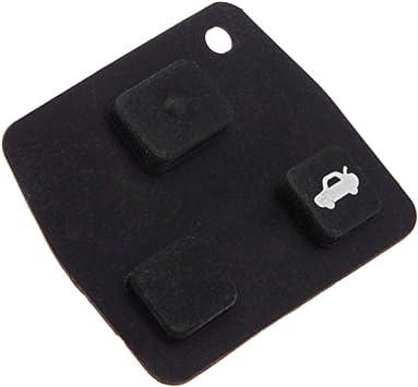 3 Botón Remoto Mando Reparación Kit Goma Almohadilla Para Toyota Corolla Rav4