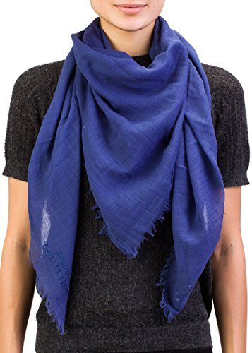 Versace Collection Women's Wrinkled Cotton Scarf Blue by Versace