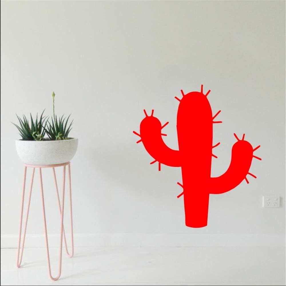 Ajcwhml Planta Cactus Tatuajes de Pared Art Deco Etiqueta de La Pared Etiqueta Engomada del Arte Home Office Decoración de La Pared de Vinilo Art Mural 38x42 cm: Amazon.es: Hogar