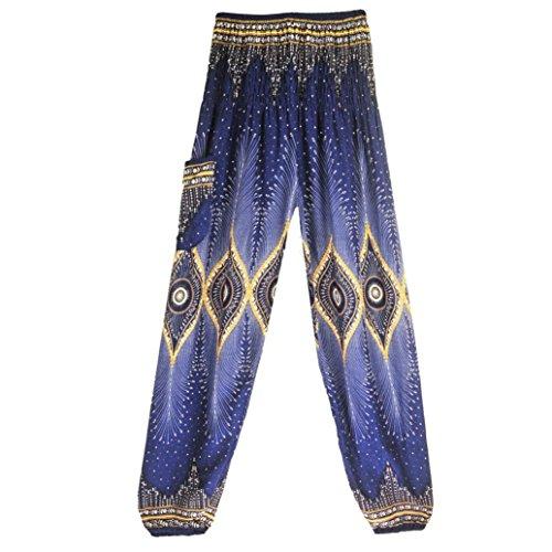 sportivi B Donna HLHN Pantaloni Blue RIw554