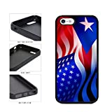 BleuReign(TM) Puerto Rico and USA Mixed Flag TPU RUBBER SILICONE Phone Case Back Cover Apple iPhone 5 5s and iPhone SE